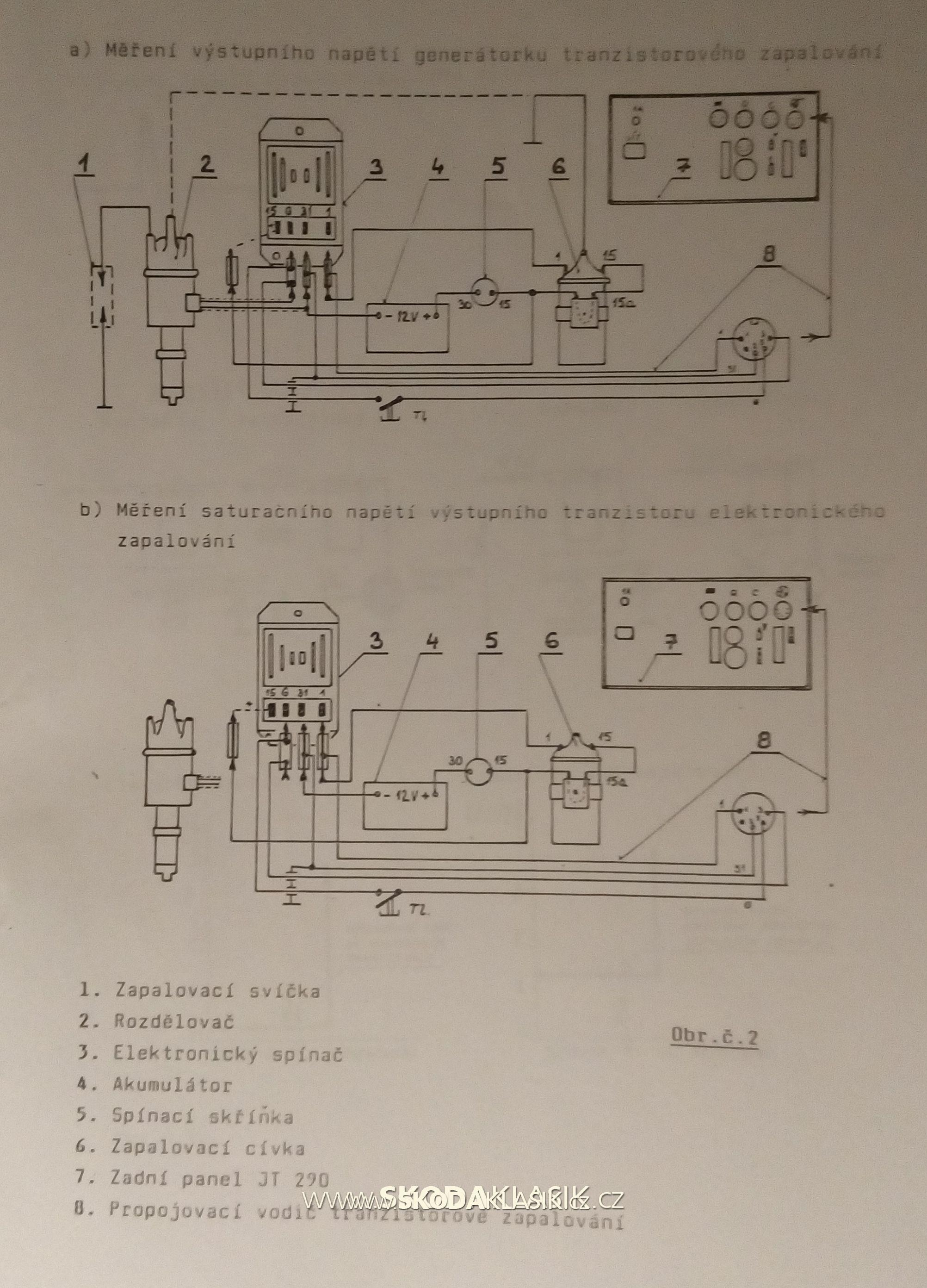 Elektronické zapalování zapojení měření